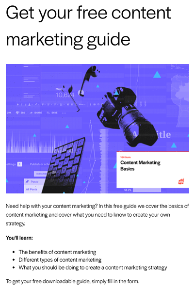Content marketing example