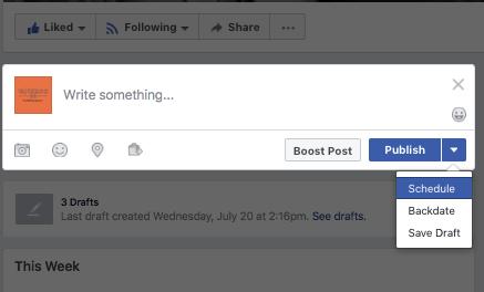 why schedule facebook posts
